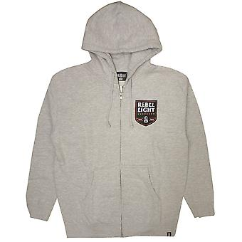 Rebel8 Death Squad Zip upp Hoodie Heather Grey
