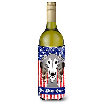 Saluki Wine Bottle Koozie Hugger BB2159LITERK