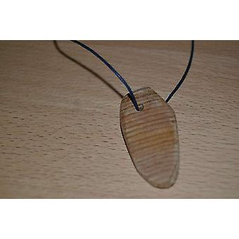 Wood pendant amulet wood chestnut scented necklace unique handcrafted wood trailer Cedar made in Austria