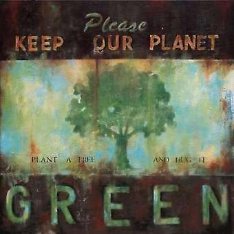 Green Planet Poster Print by Wani Pasion