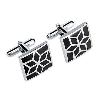 Marcell Sanders mens cuff links square star black
