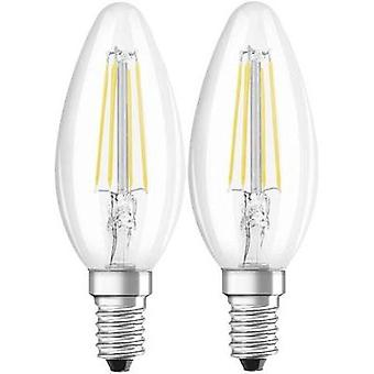 LED (monochrome) OSRAM 230 V E14 4 W = 40 W Warm white EEC: A++ Candle (Ø x L) 35 mm x 97 mm Filament 2 pc(s)