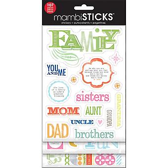 Glitter Stickers Value Pack familie u & Me Gvp 32