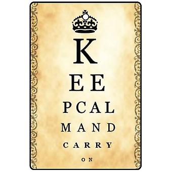 Keep Calm And Carry On Vintage Eye Chart Car Air Freshener
