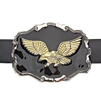 Iced out bling BLACK gold Eagle Eagle belt