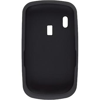 Premium Silicone Gel Skin Case (Black) For Alcatel OT-802