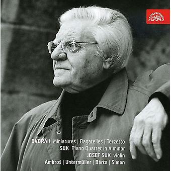 Dvorak/Suk - Dvor K: miniaturas; Frivolidades; Terzetto; Suk: Cuarteto para Piano en un E.e.u.u. [CD] menor importación