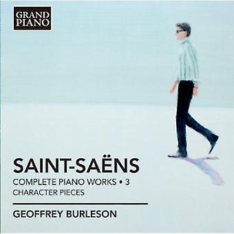 C. Saint-Saens-Saint-Sa Ns: Klaver værker, Vol. 3: karakterstykker [CD] USA import