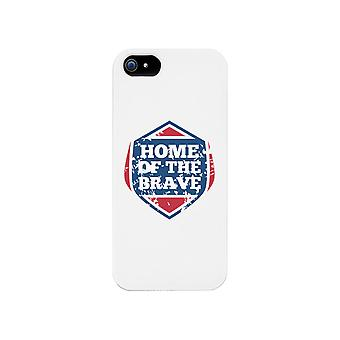 Home Of The Brave White Phone Case