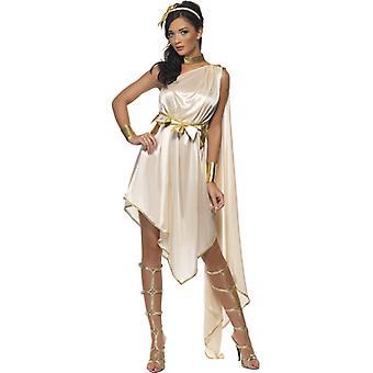 Godin kostuum wit goud Griekse godin dames deluxe