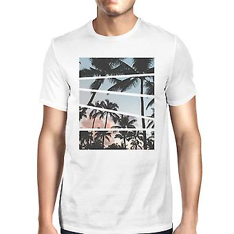Palm Trees California Sunset Photography Mens Short Sleeve T-Shirt