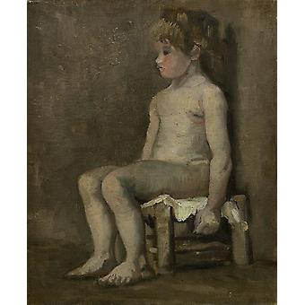Vincent Van Gogh - Study of a Nude Girl, 1886 Poster Print Giclee