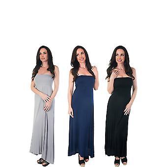 Agiato kvinder 2-i-1 Maxi kjole 3-Pack