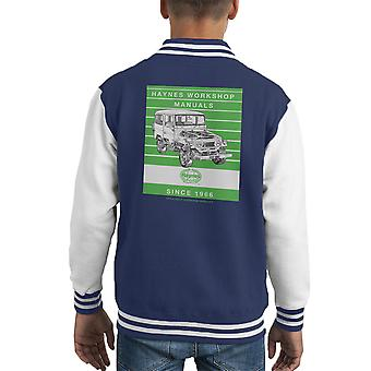Haynes Workshop Manual 0313 Toyota Landcruiser Stripe Kid's Varsity Jacket