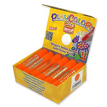 Playcolor Basic en 10g Solid plakat maling Stick (pakke med 12 - Orange)