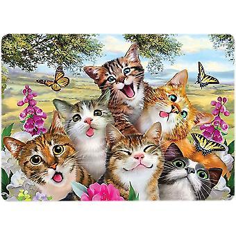 Selfie væg Plaque - katte