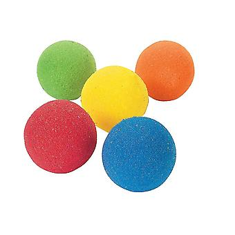 12 Small 6cm Assorted Sponge Balls for Kids Party Bags & Games