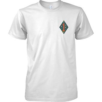 1. US-Marineinfanteriedivision USMC - Guadalcanal - militärische Insignia - Mens Brust Design T-Shirt