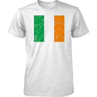Irische gequält Grunge Effekt Flaggendesign - T-Shirt für Herren