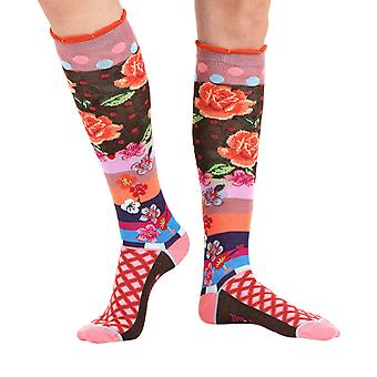 Rose women's unique crazy cotton knee-high socks | By Dub & Drino