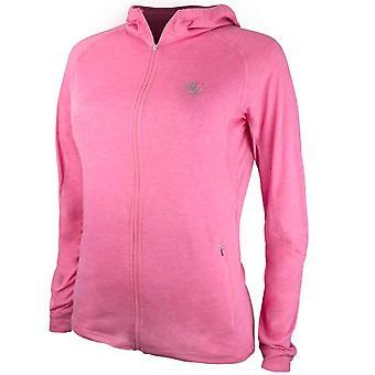 Bad Girl Training Zip Up Hoodie - Marl Pink