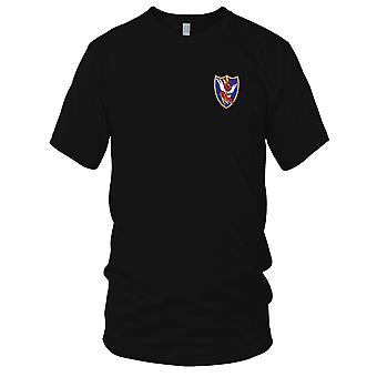 USAF Airforce - 23e Fighter Squadron geborduurd Patch - Mens T Shirt