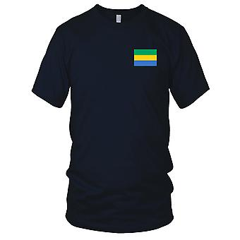 Gabon land nationale Flag - broderet Logo - 100% bomuld T-Shirt damer T Shirt