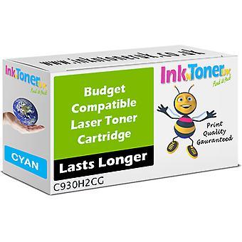 Kompatibel Lexmark C930H2CG cyan høykapasitets kassett for Lexmark C930