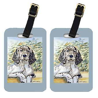 Carolines Treasures  7065BT Pair of 2 English Setter Luggage Tags