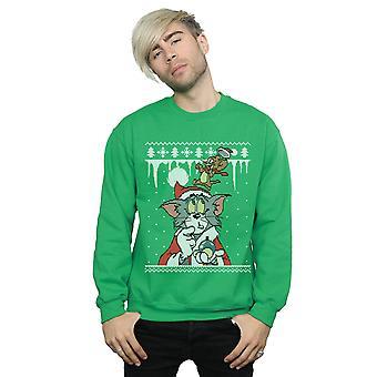 Tom And Jerry Men's Christmas Fair Isle Sweatshirt