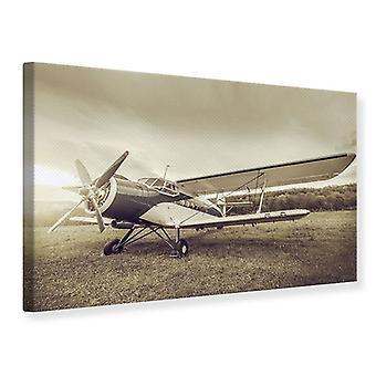 Lærred Print nostalgisk fly i Retro stil