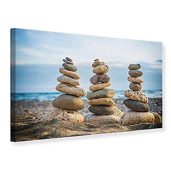Canvas Print Three Stone Stacks