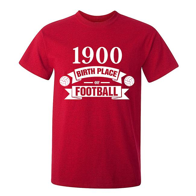 Bayern München geboorte van voetbal T-shirt (rood)