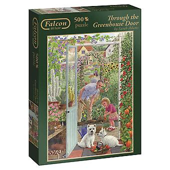 Falcon de Luxe Through The Greenhouse Door Puzzle (500-Piece)