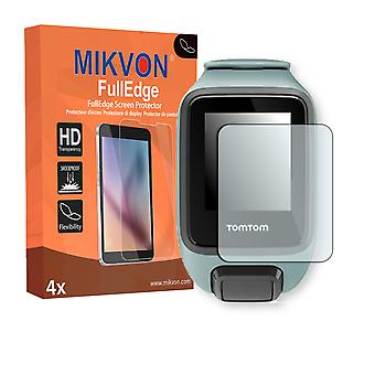 TomTom Spark 3 screen protector - Mikvon FullEdge (screen protector with full protection and custom fit for the curved display)