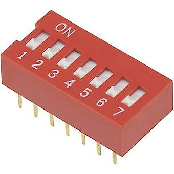 DIP switch Number of pins 7 Slide-type TRU COMPONENTS DSR-07