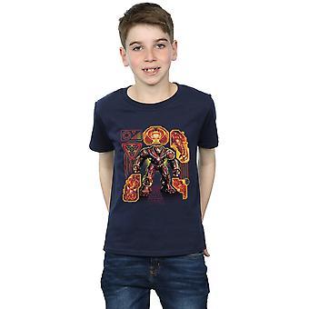Avengers drenge Infinity krigen Hulkbuster Blueprint T-Shirt