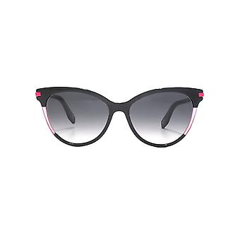 Marc Jacobs Colour Pop Cateye Sunglasses In Black Fuchsia