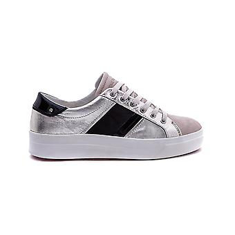 Crime London women's 25620KS126 silver/black leather of sneakers
