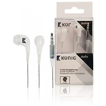König In-ear headphones, white