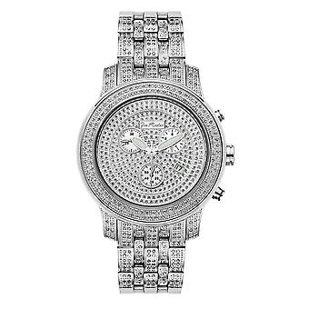 Joe Rodeo diamond men's watch - 2000 silver 3.5 ctw