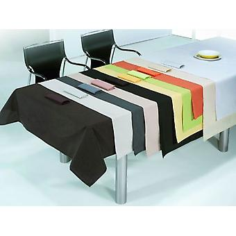ES-TELA Tablecloth Thread with Napkins Rustic White Smooth Hem (Textile , Table textiles)