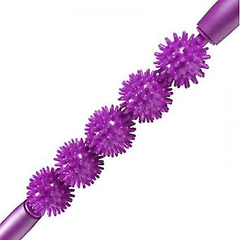 Kabalo Spiky Ball Trigger Point Muscle Therapy Stick Roller Spikey Massage Wand Rolling (Purple)