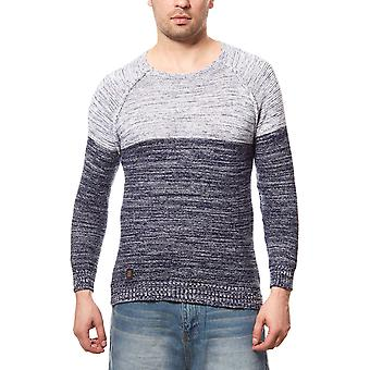 CARISMA rope mens knitted sweater white