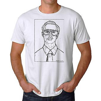 Napoleon Dynamite Kip By Numbers Men's White Funny T-shirt