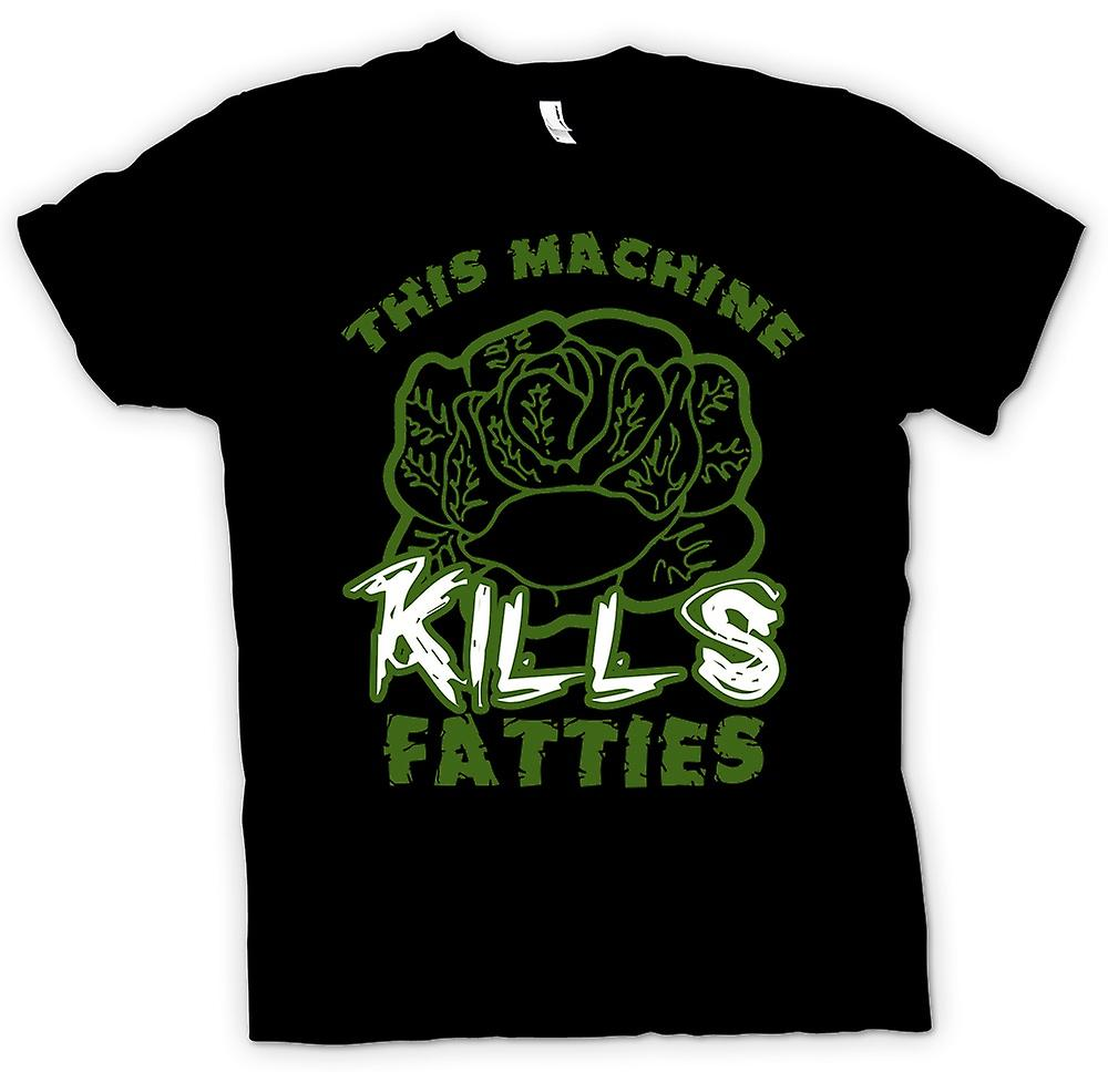 Heren T-shirt-deze Machine doodt Fatties - grappig