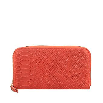 Ladies ' wallet Made in Italy leather snake print Gem Bags 20x11x3 Cm