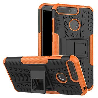 For Huawei Y6 2018 hybrid case 2 piece SWL outdoor Orange Pouch Pocket sleeve cover protection
