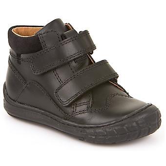 Froddo Boys G3110098 School Boots Black Leather