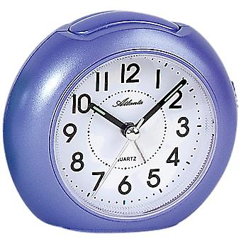 Atlanta 1933/8 alarm clock quartz analog purple violet quietly without ticking light Snooze